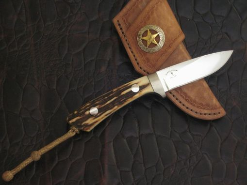 Custom Made Knife With Sambar Stag Horn From India Handle