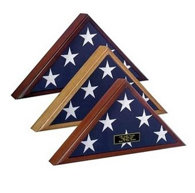 Custom Made Spartacraft Veteran Flag Display Case -Cherry