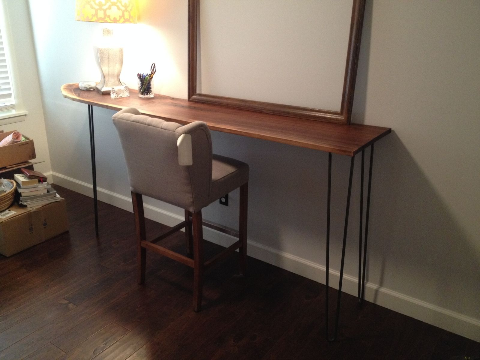 Custom Made Hairpin Leg Standing Desk
