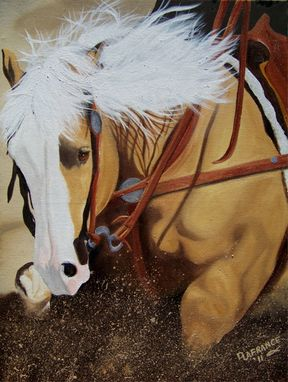 Custom Made Horses Painted In Oils On Canvas,  Wood,  Or Fabric