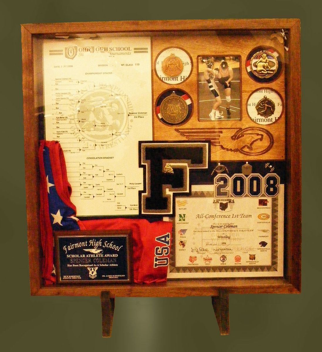 Custom Wood Shadow Boxes For Sports by Greg Seitz Woodworking ...