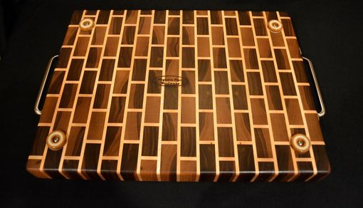 Custom Made Black Walnut And Rock Maple End Grain Cutting Board