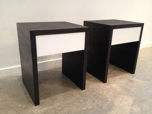 Custom Made Contemporary Wooden Night Stands