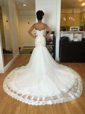 Custom Made Sweetheart Strapless Trumpet Wedding Gown