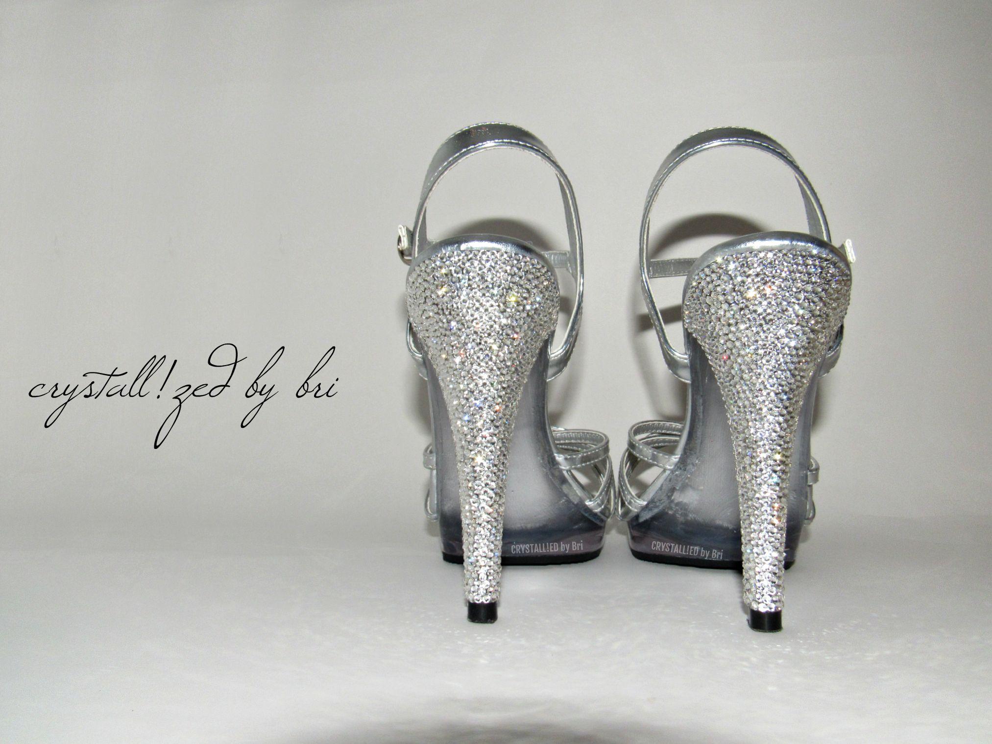 cdb596da62 Custom Made Crystallized Stiletto Heels Made With Swarovski Crystals -  Heels Only
