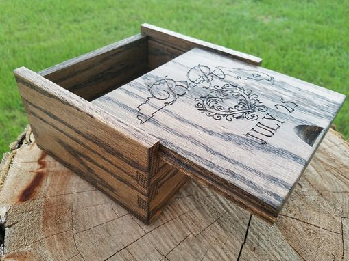 Custom Made Classic Hardwood Oak Box For Jewelry, Wedding Or Gift Giving
