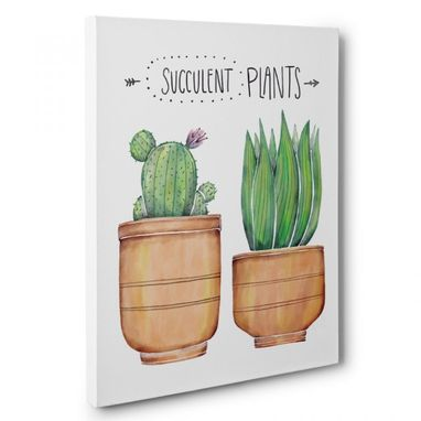 Custom Made Succulent Plants Canvas Wall Art