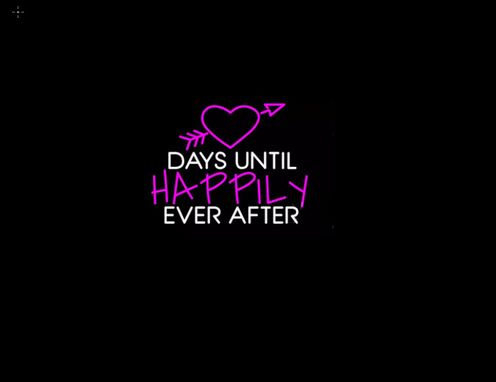 Custom Made Days Until Happily Ever After