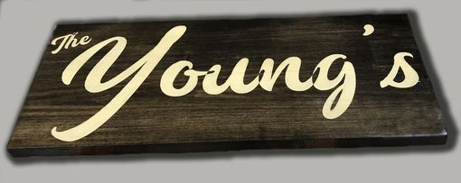 Custom Made Simple Last Name, Basswood Sign