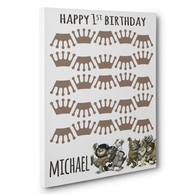 Custom Made Where The Wild Things Are Birthday Guestbook Canvas Wall Art