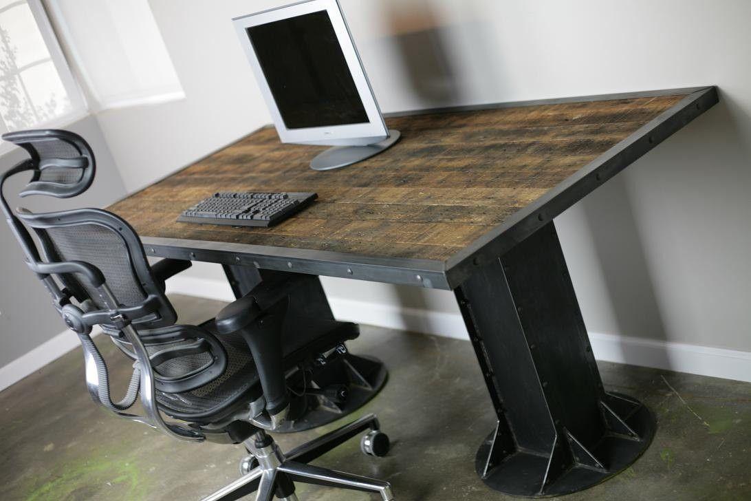 buy a handmade modern industrial i beam desk vintage