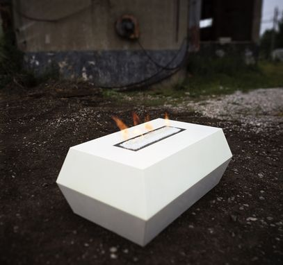 Custom Made Decahedron Fire Table (Concrete, Gas Flame)