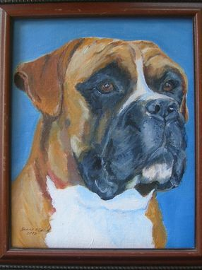 Custom Made Boxer, Custom Pet Portrait