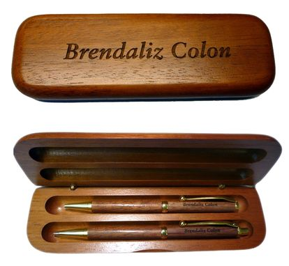 Custom Made Personalized Pens & Pen Box