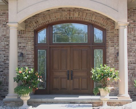 Custom Made Exterior Mahogany Doors