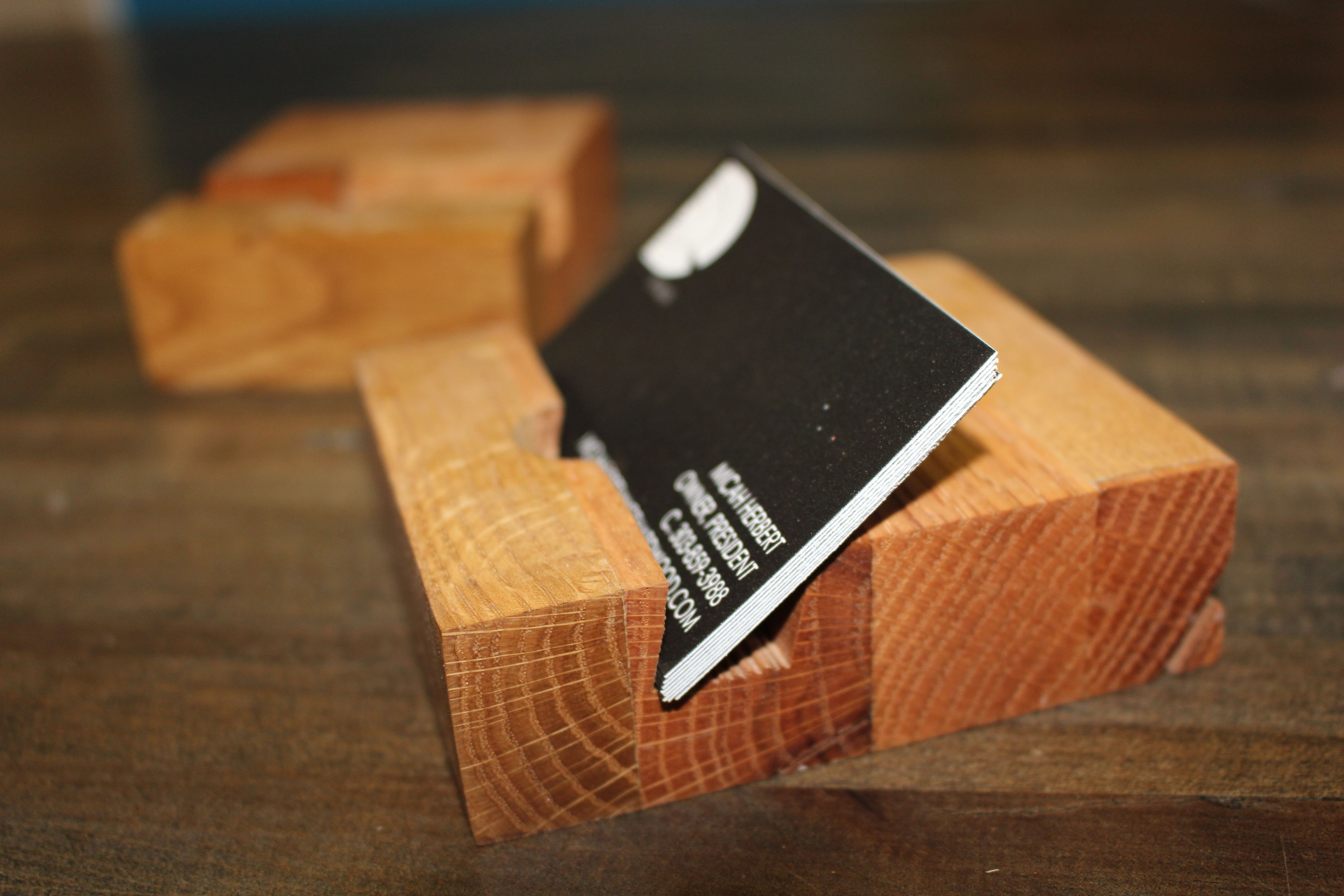 Buy Handmade Reclaimed Wood Business Card Holders, made to order ...