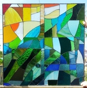 Custom Made Stained Glass Set Of Windows - Inspired By The Sagrada Familia (W-44)