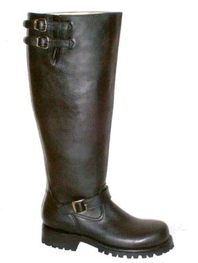 Custom Made Engineer Boots 20 Inches Shafts Heavy Leather Made To Order Boots Any Size New