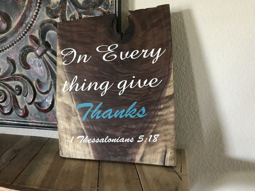 Custom Made Solid Walnut Sign With Bible Verse