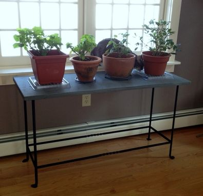 Custom Made Wrought Iron & Slate Table