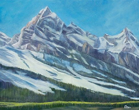 Custom Made Teton Giant (Jackson, Wyoming) Oil Painting - Fine Art Print On Canvas, Stretched