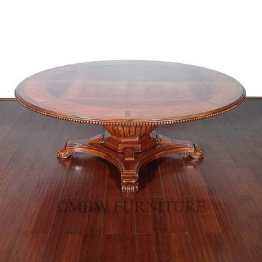 Custom Made 7ft Round Light Walnut Pedestal Dining Conference Table