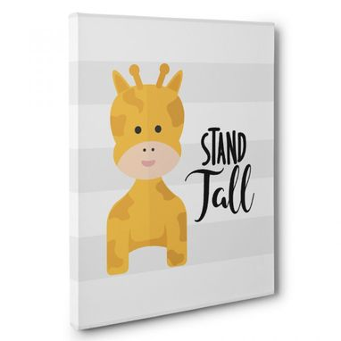 Custom Made Stand Tall Nursery Canvas Wall Art