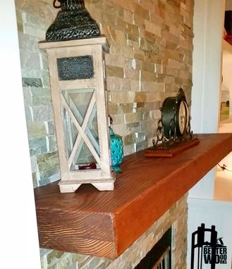 What Is Leather Made Of >> Custom Made Rustic Douglas Fir Mantel by Better Wood Works ...