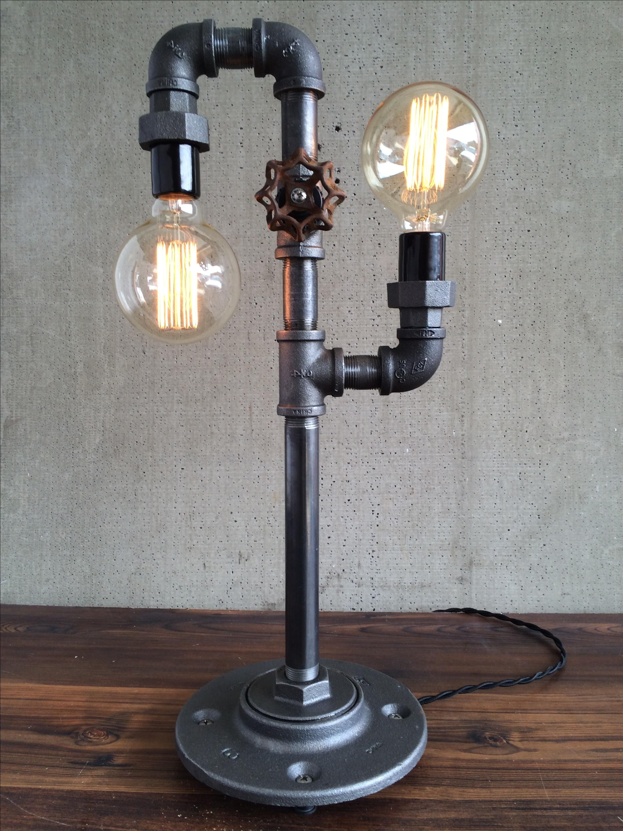 Buy a hand crafted industrial edison bulb light iron pipe table buy a hand crafted industrial edison bulb light iron pipe table lamp made to order from peared creation custommade geotapseo Choice Image