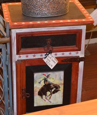 Custom Made Nightstand With A Western Theme