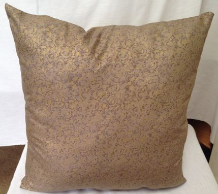 Custom Made Gold Shiny Pillow