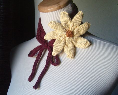 Custom Made The Daisy - Knit Neckband/Headband All Cotton