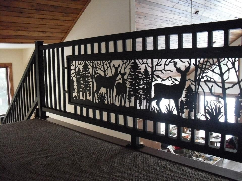 Hand Crafted Deer Railing By Iron Oddities Studio