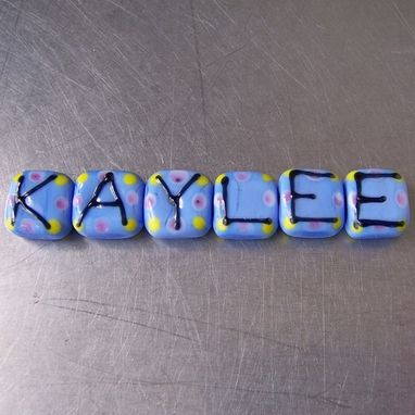 Custom Made Custom Personalized Name Beads Lampwork Glass Beads And Jewelry