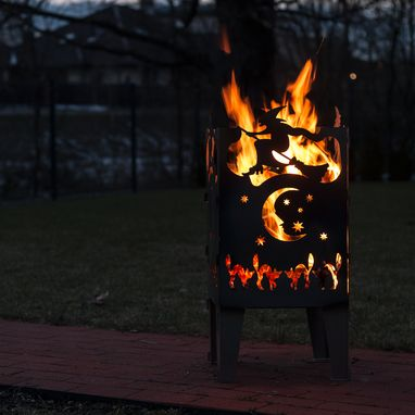 Custom Made Witch Solid Steel Wood Burning Fire Pit
