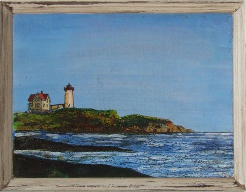 Custom Made Painting/Nubble Light, York Maine