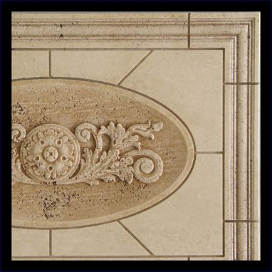 Custom Made Relief Carved Stone Panel