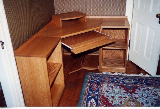 Handmade Corner Computer Desk by Whim Wood Custom Furniture ...