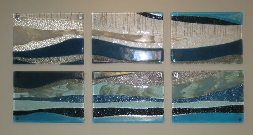 Custom Made Glass Wave Wall Panels
