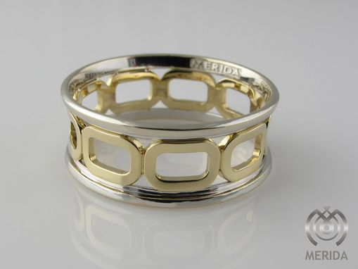 Custom Made 2-Tone Open Link Wedding Band