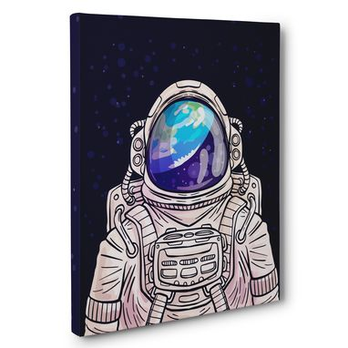 Custom Made Astronaut Canvas Wall Art
