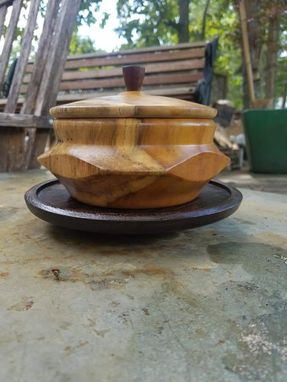 Custom Made Chestnut Bowl With Lid & Base (Available For Purchase)