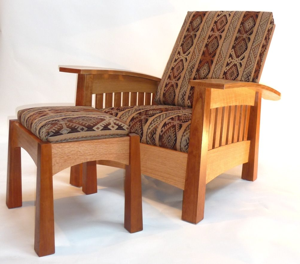 Handmade California West Bow Arm Morris Chair By Murphy S