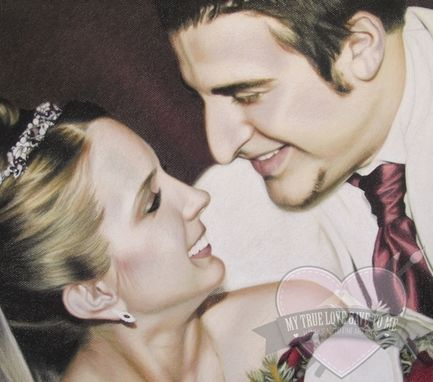 Custom Made Chalk Pastel Portrait Drawing, 5th Wedding Anniversary 2013