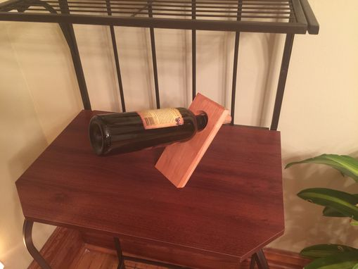 Custom Made Solid Cherry Balancing Wine Stand