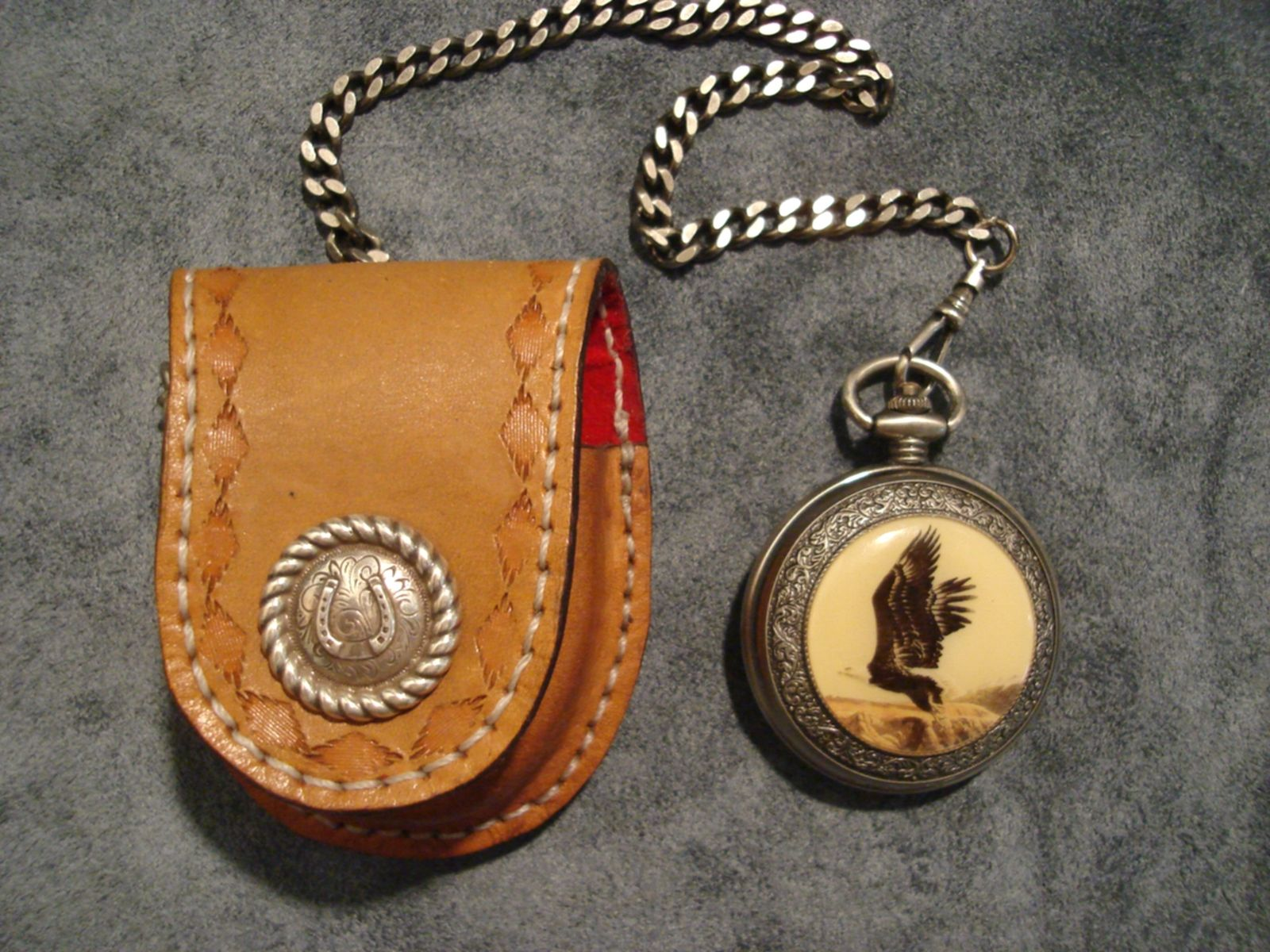 custom made leather pocket by blackbull leather