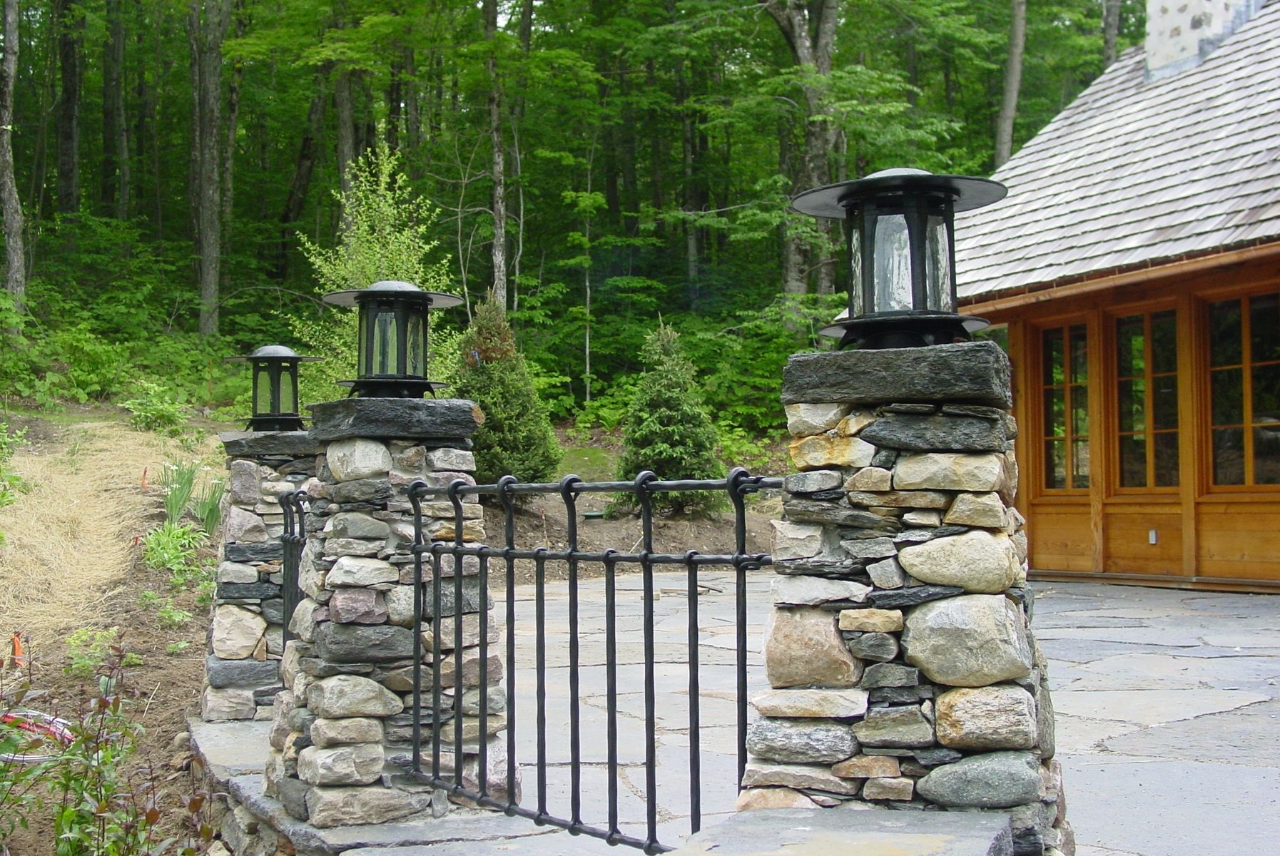 Hand Crafted Patio Column Lanterns By