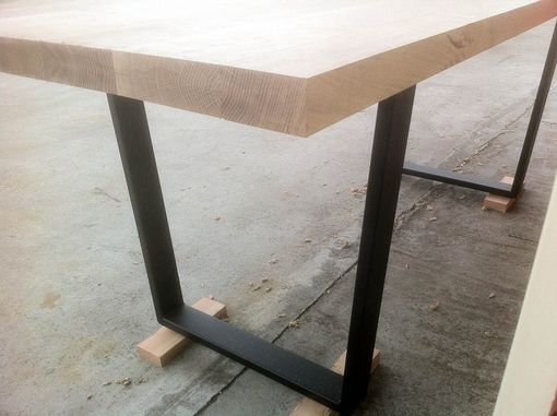 Custom Made Quarter Sawn Oak Dining Table With Expanding Leafs