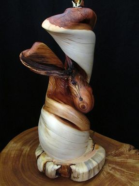 Custom Made Twisted Juniper Wood Table Lamp, Rustic Home Decor