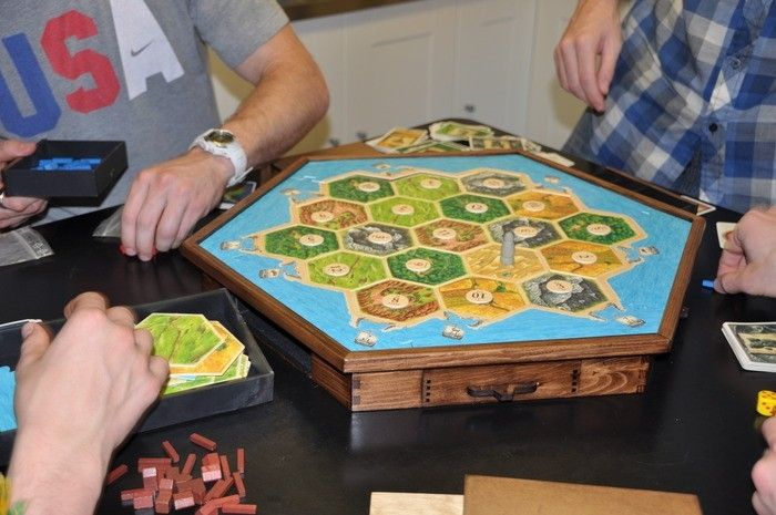 Hand Made Settlers Of Catan Storage And Game Board By